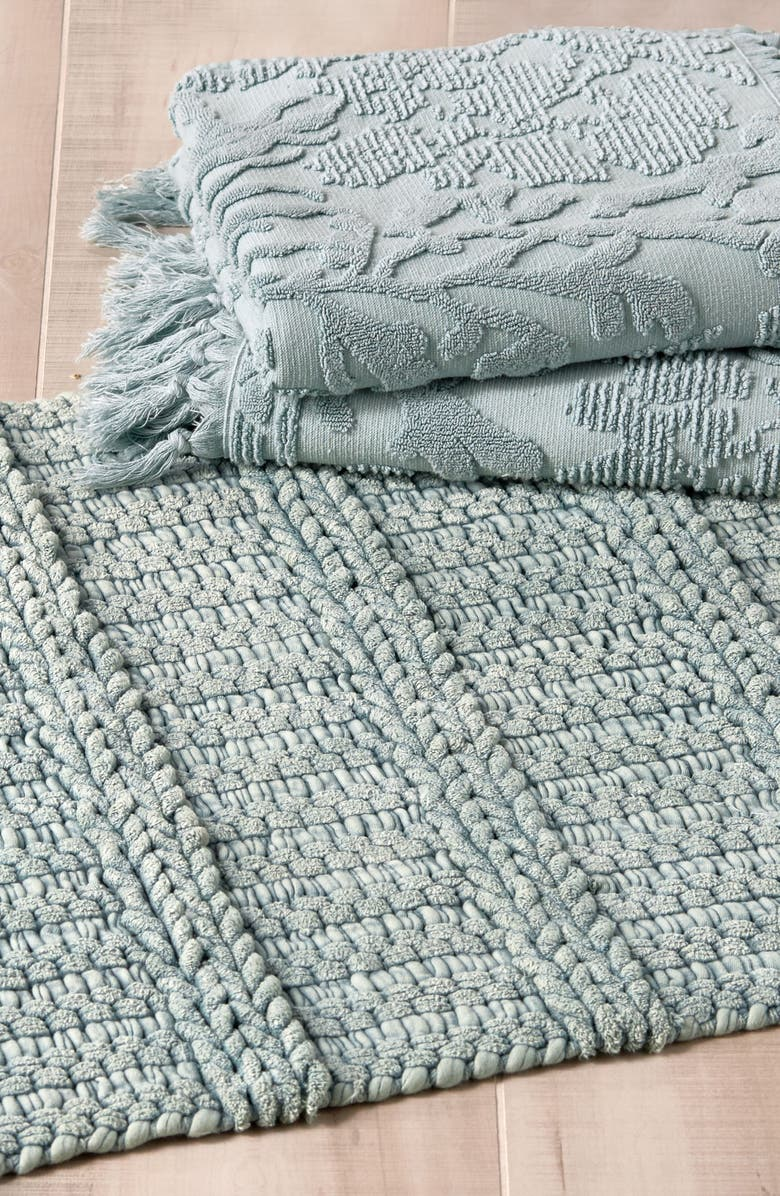 MICHAEL ARAM Ocean Reef Bath Rug, Main, color, SEAFOAM