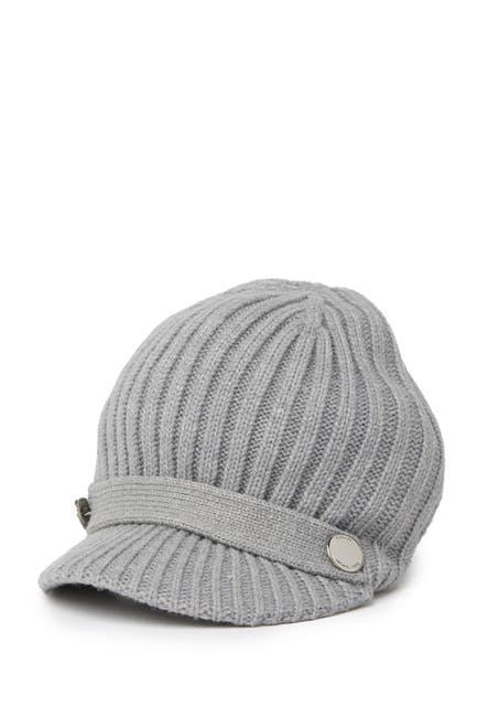 Image of Michael Kors Ribbed Knit Peak Cap