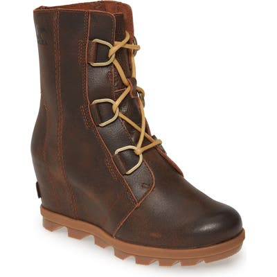 Sorel Joan Of Arctic Ii Waterproof Wedge Boot, Brown