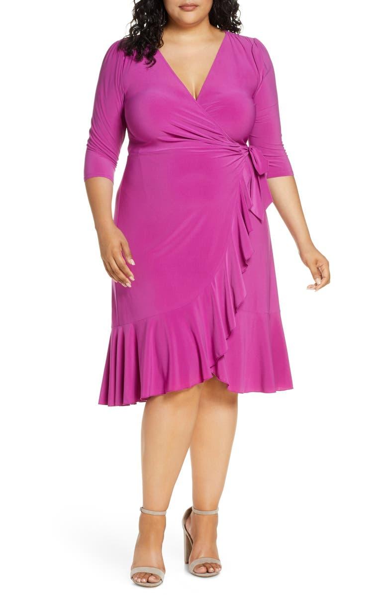 KIYONNA Whimsy Wrap Dress, Main, color, MAGENTA