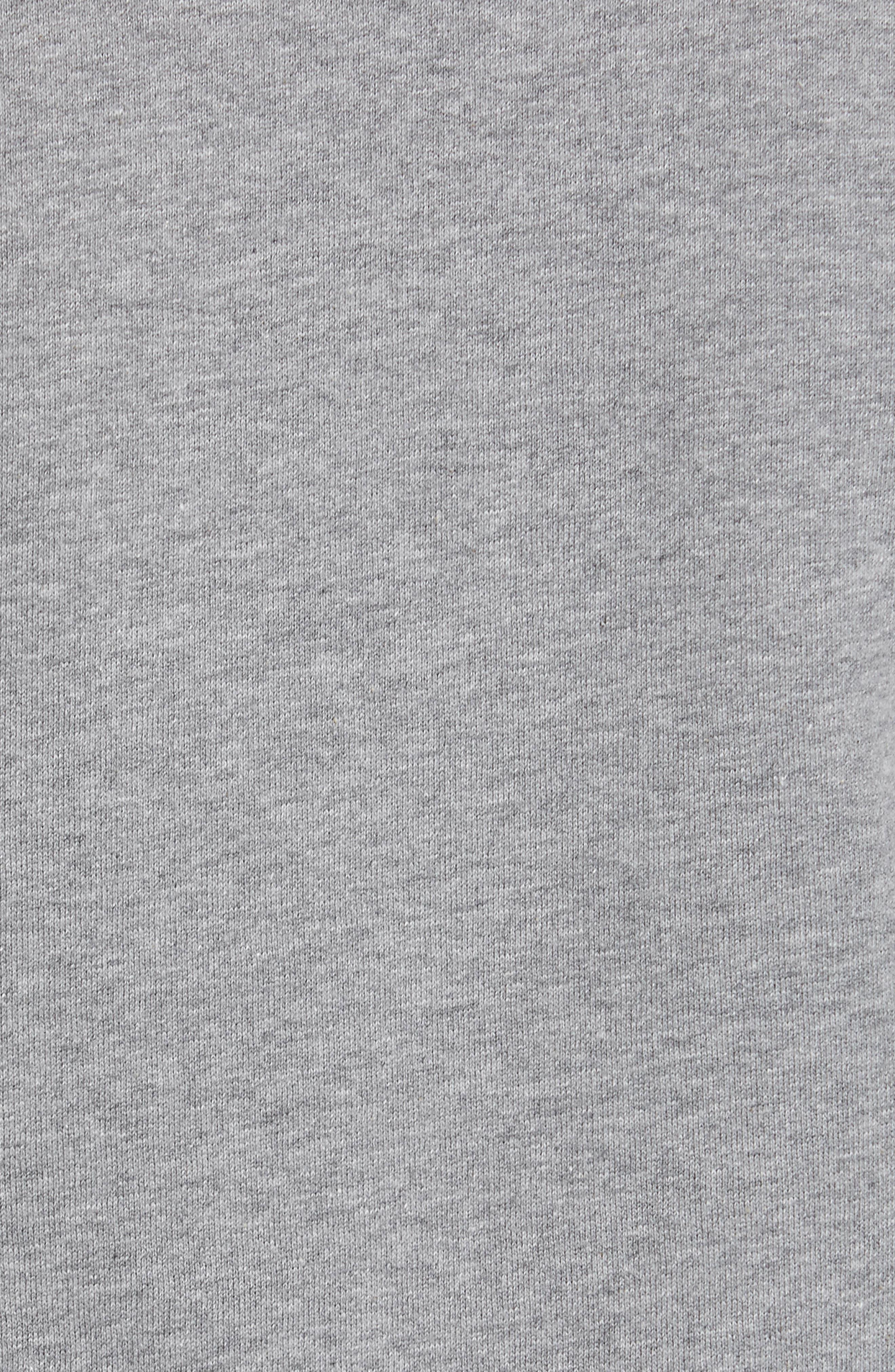 ,                             Scallop Elastic Logo Sweatshirt,                             Alternate thumbnail 5, color,                             HEATHER GREY