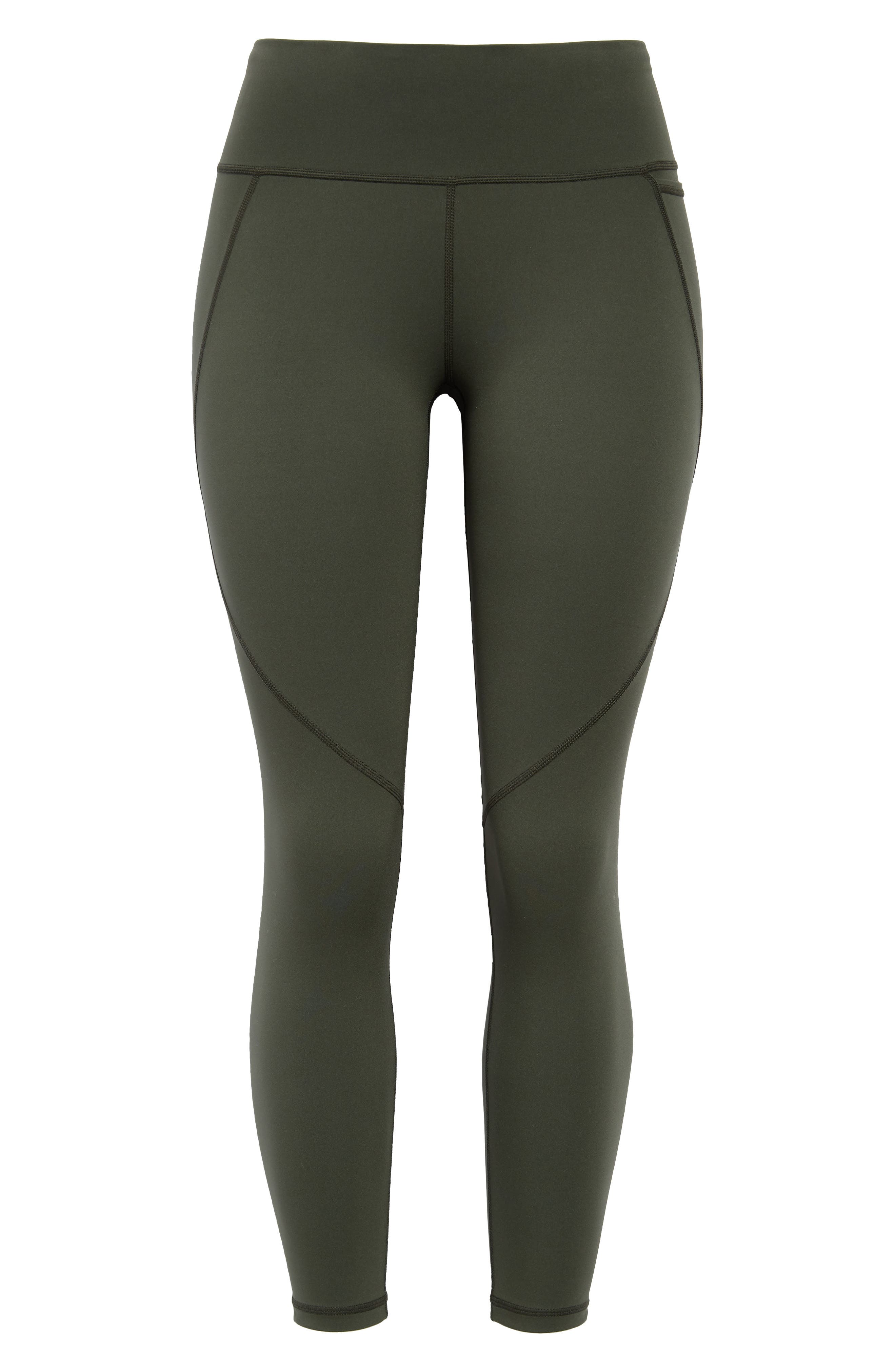 Power through tough workouts in these leggings cut from a super-stretchy fabric that sculpts as it supports hard-working muscles to their best performance. Handy side and back-zip pockets securely hold your phone or media player while you pound out those miles. Style Name: Sweaty Betty Power 7/8 Workout Leggings. Style Number: 5789648. Available in stores.
