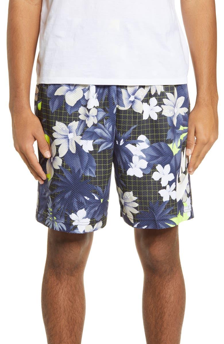 NIKE SB Paradise Sunday Shorts, Main, color, BLACK/ WHITE