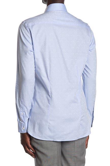 Image of Ted Baker London Jacquard Print Dobby Long Sleeve Endurance Fit Shirt