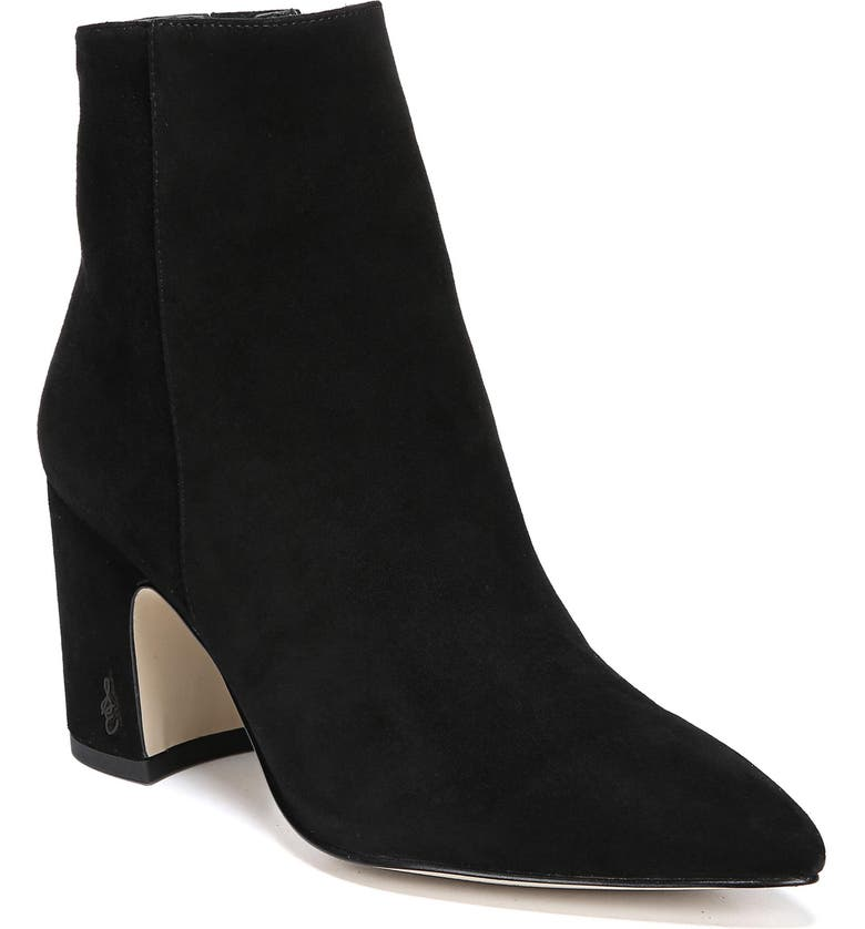 SAM EDELMAN Hilty Bootie, Main, color, BLACK SUEDE