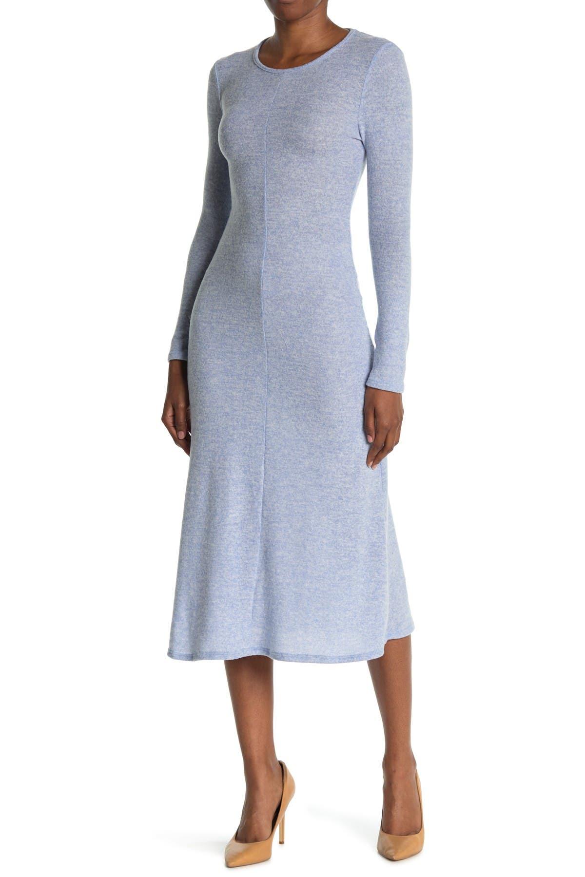 Image of Velvet Torch Long Sleeve Crew Neck Maxi Dress