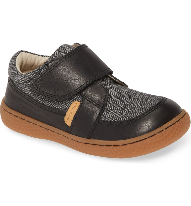 LIVIE & LUCA Maverick Sneaker, Main, color, BLACK HERRINGBONE