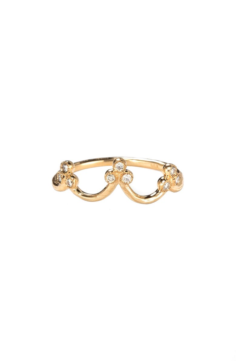 NORA KOGAN Crown Princess Stack Ring, Main, color, YELLOW GOLD