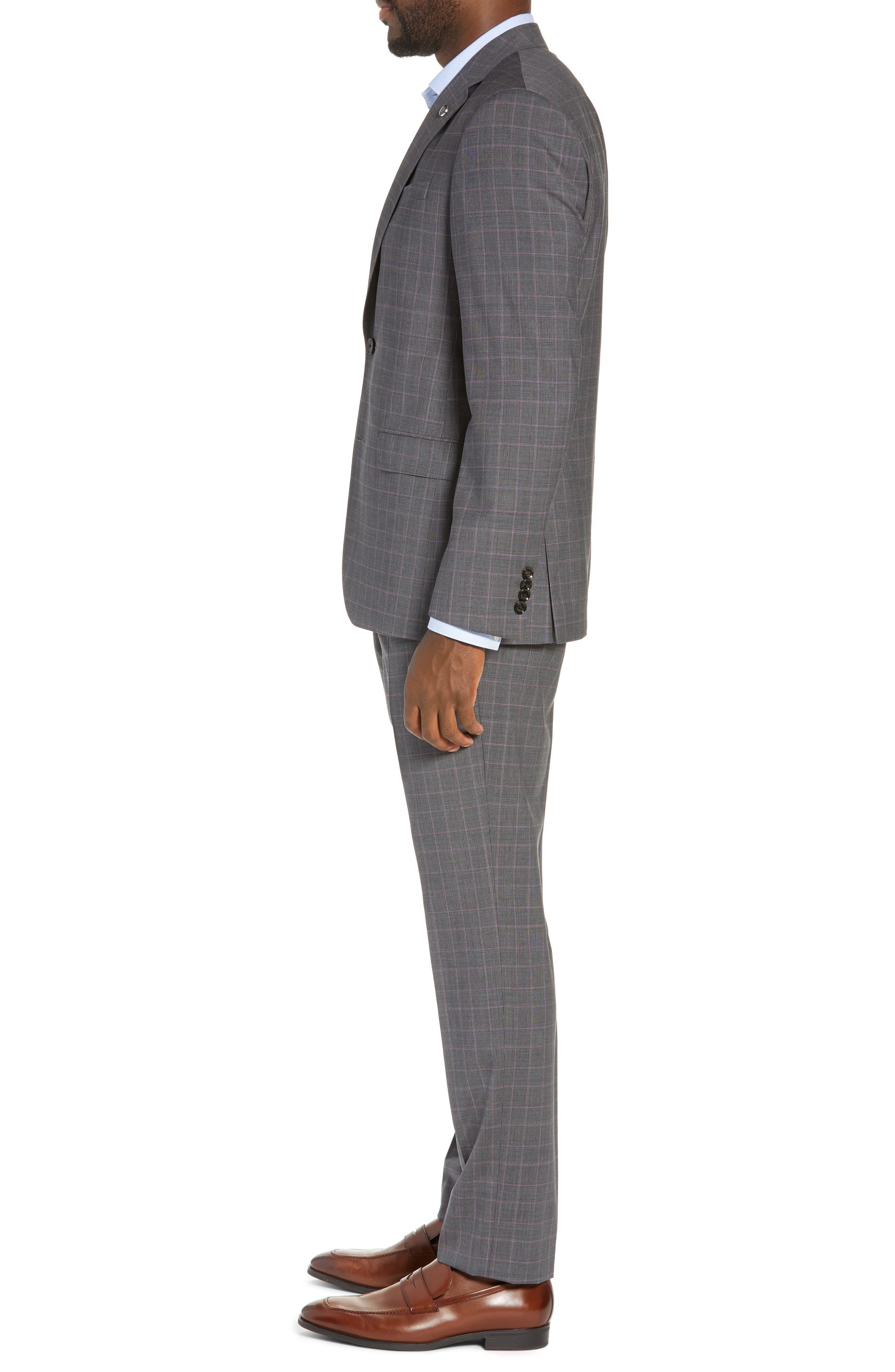 ,                             Jay Trim Fit Plaid Wool Suit,                             Alternate thumbnail 3, color,                             020