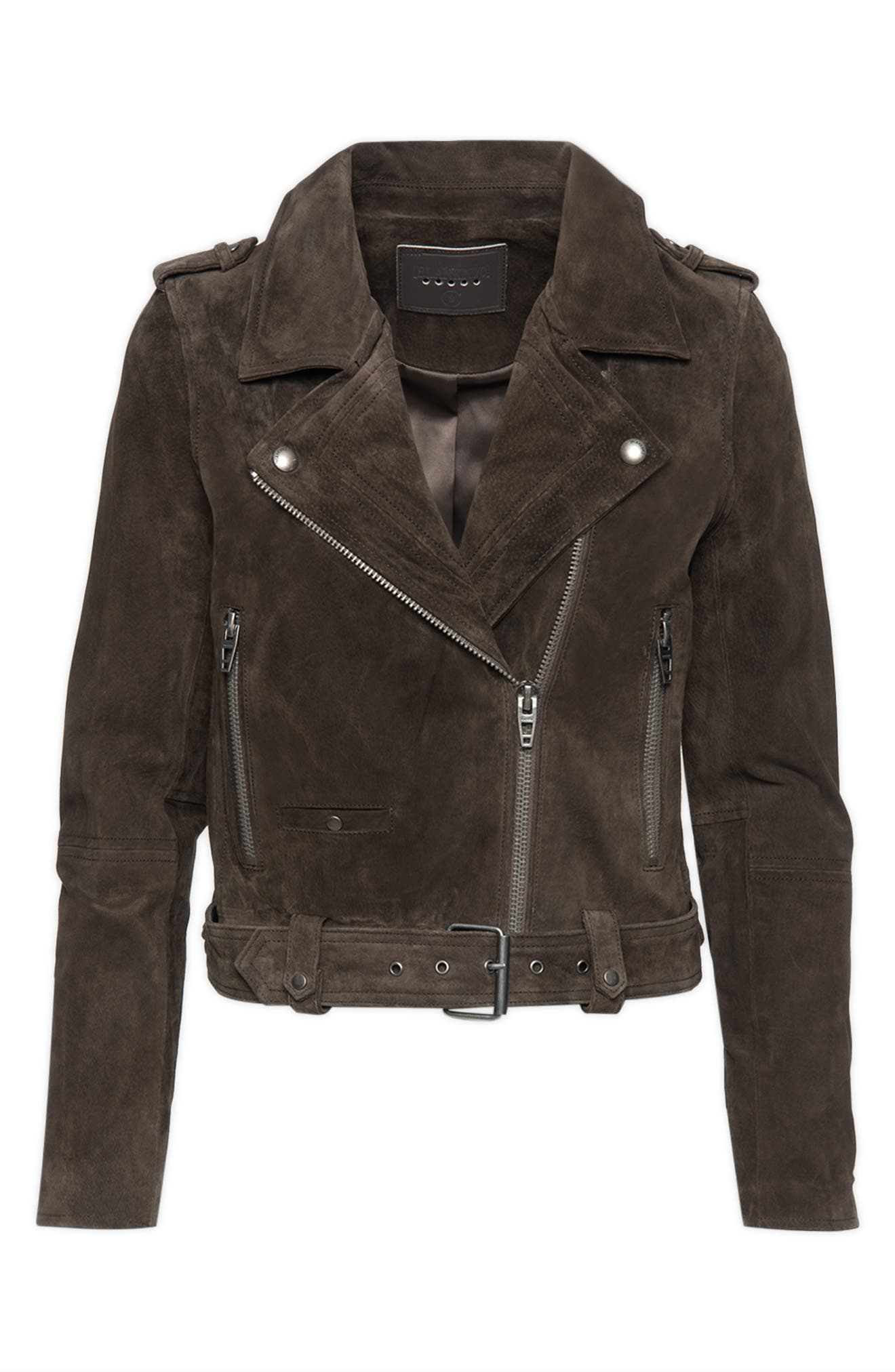 Women's Blanknyc Suede Moto Jacket, Size Small - Grey