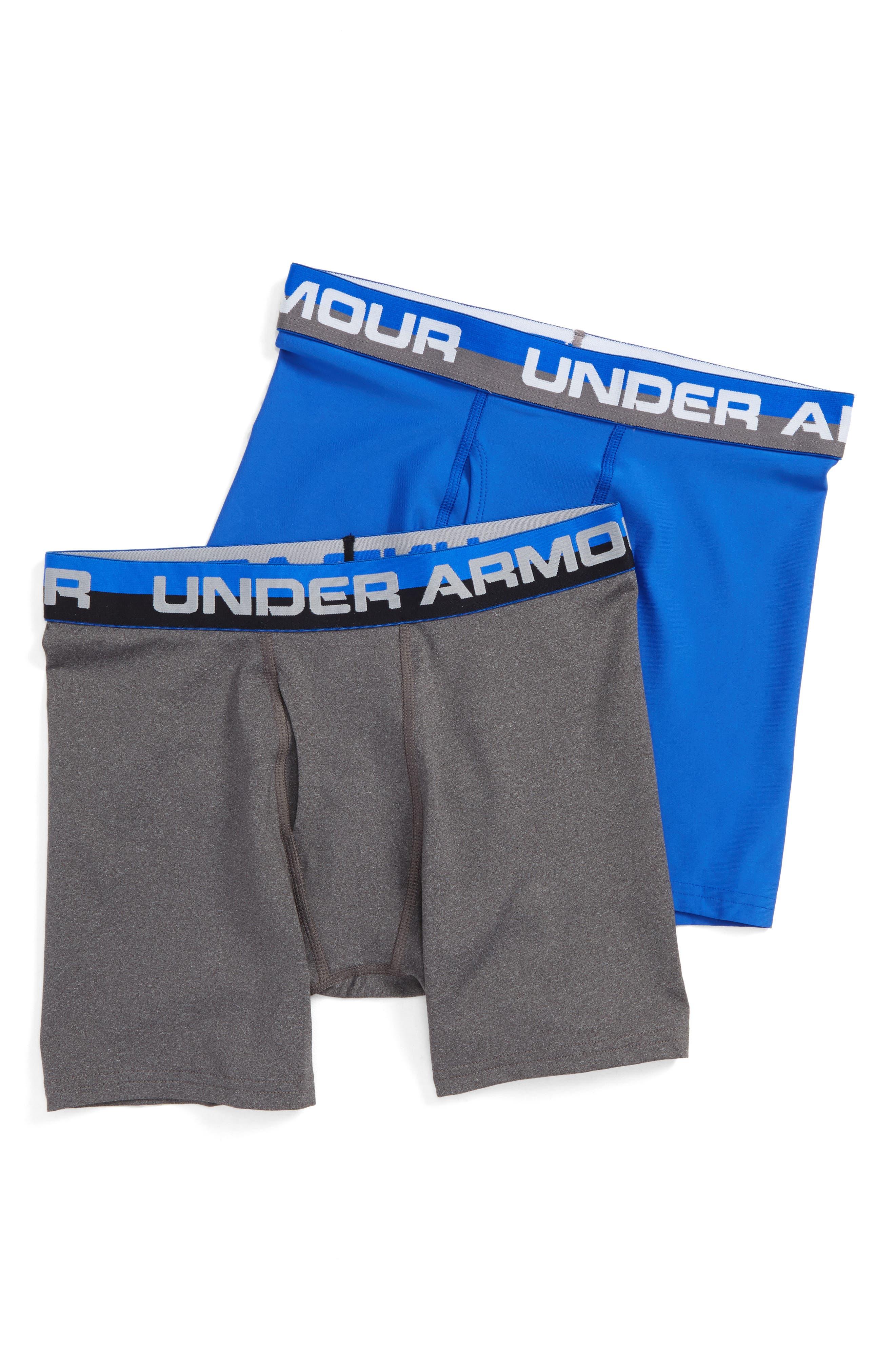 Boys Under Armour 2Pack Boxer Briefs Size XL (1820)  Blue