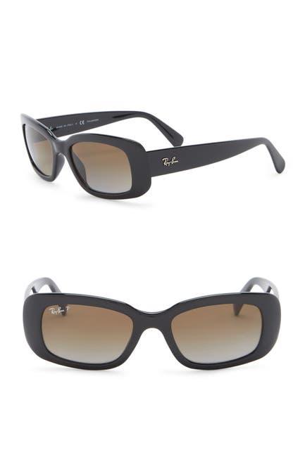Image of Ray-Ban 50mm Rectangle Polarized Sunglasses