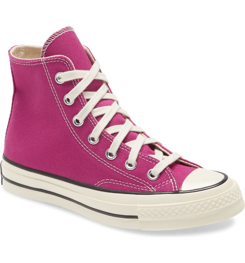 CONVERSE Chuck Taylor<sup>®</sup> All Star<sup>®</sup> Chuck 70 High Top Sneaker, Main, color, CACTUS FLOWER/ BLACK/ EGRET