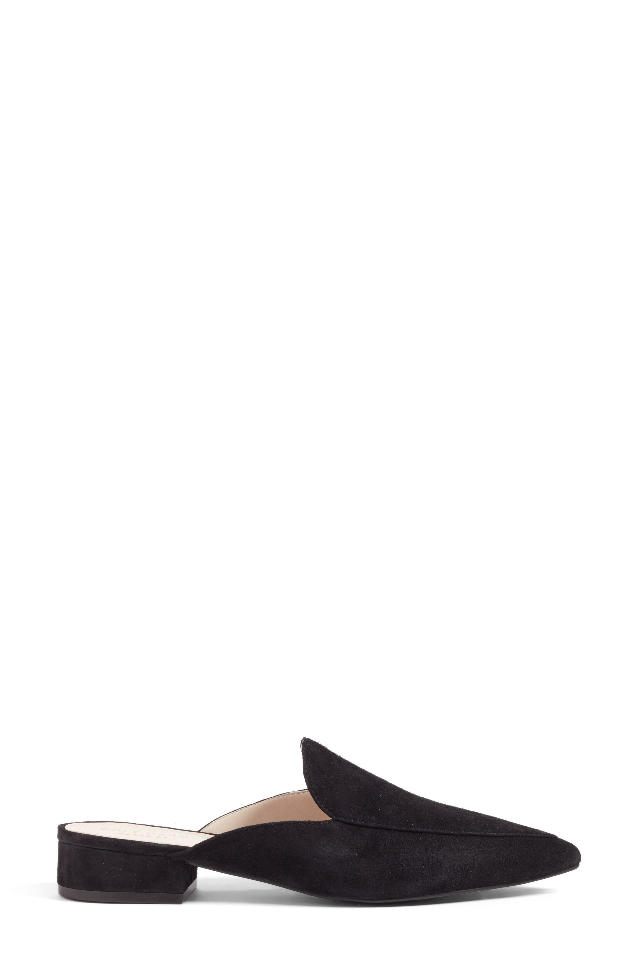 ,                             Piper Loafer Mule,                             Alternate thumbnail 3, color,                             BLACK SUEDE