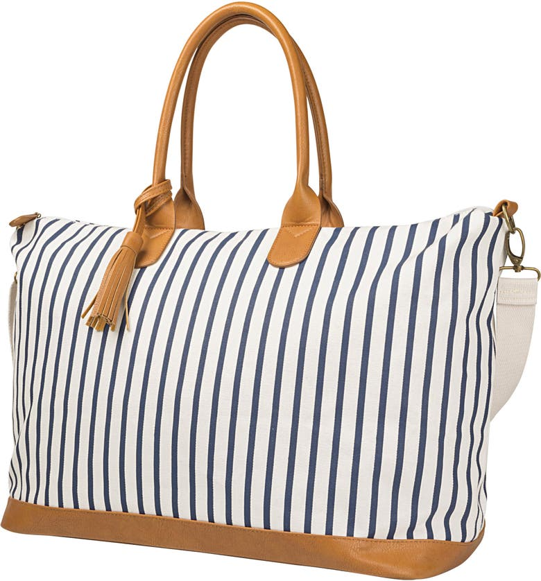 CATHY'S CONCEPTS Monogram Oversized Tote, Main, color, BLUE