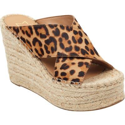 Marc Fisher Ltd Adenly Platform Wedge Slide Sandal, Brown