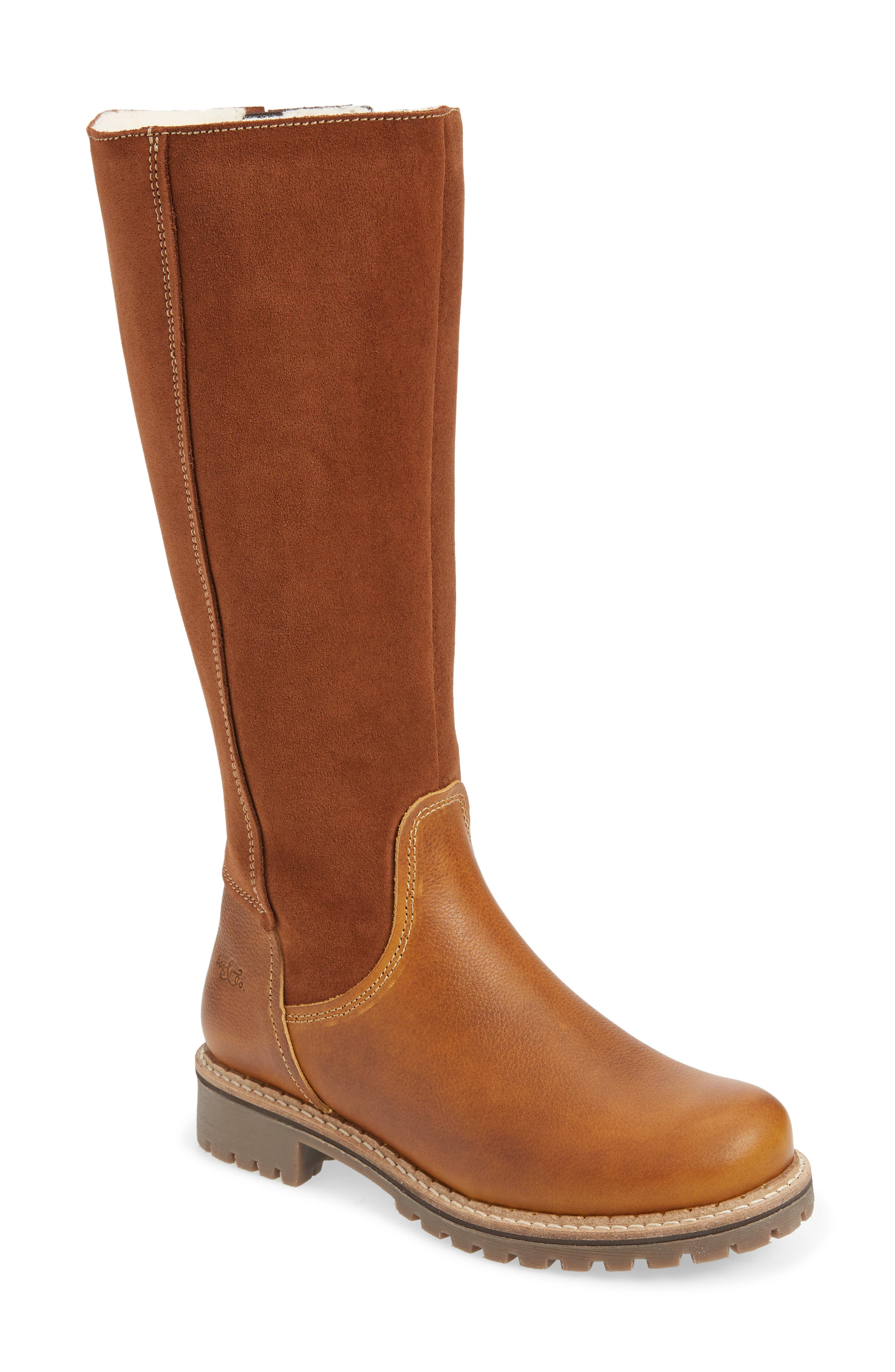 The merino-wool lining of this warm, comfortable knee-high boot is backed by an Aquastop breathable, water-repellent membrane, while the chunky lugged platform gives you superior traction in wet or snowy weather. Style Name: Bos. & Co. Hudson Waterproof Boot (Women). Style Number: 5626253. Available in stores.