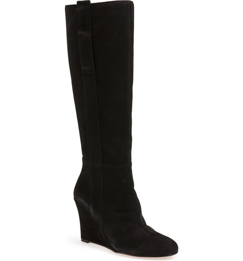 NINE WEST 'Oran' Tall Wedge Boot, Main, color, 001