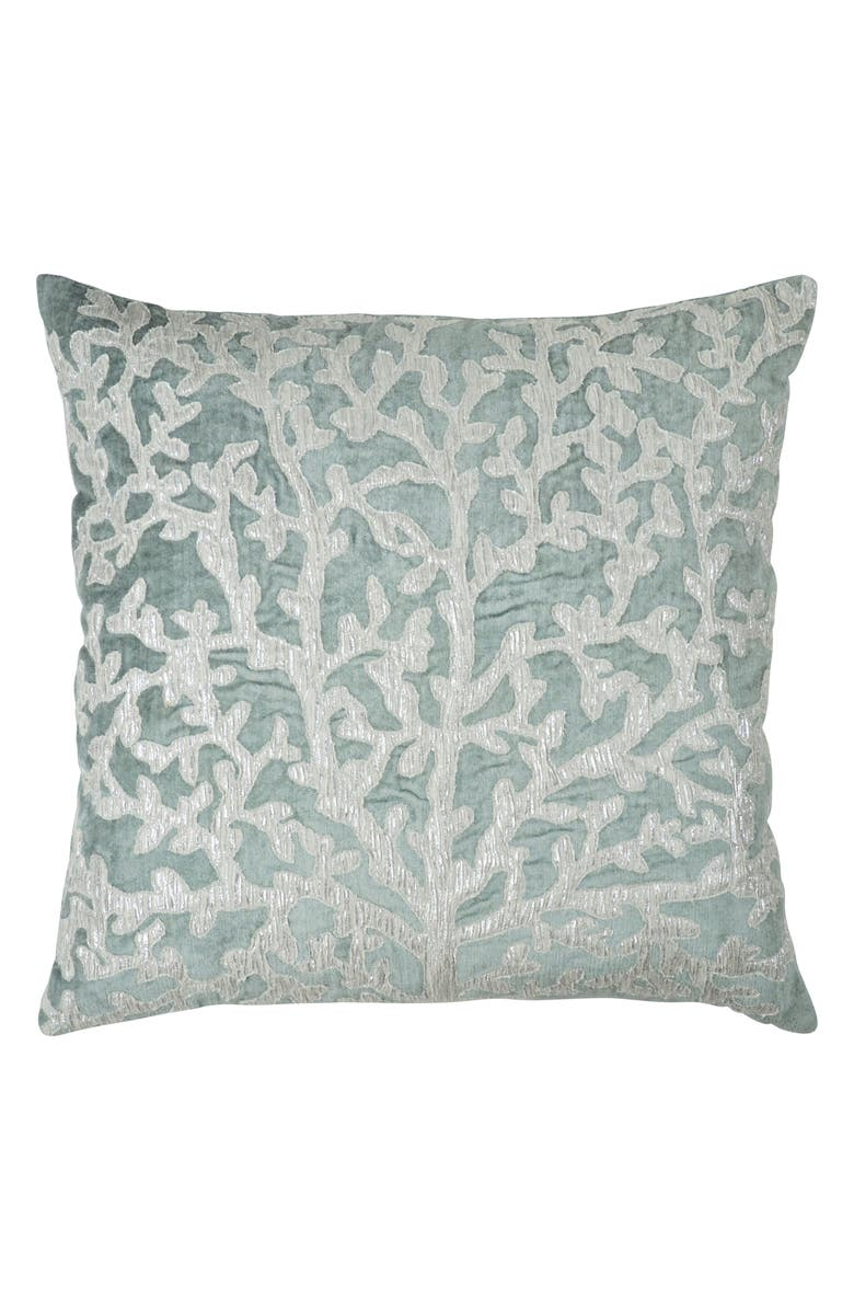 MICHAEL ARAM Tree of Life Appliqué Accent Pillow, Main, color, SEA FOAM
