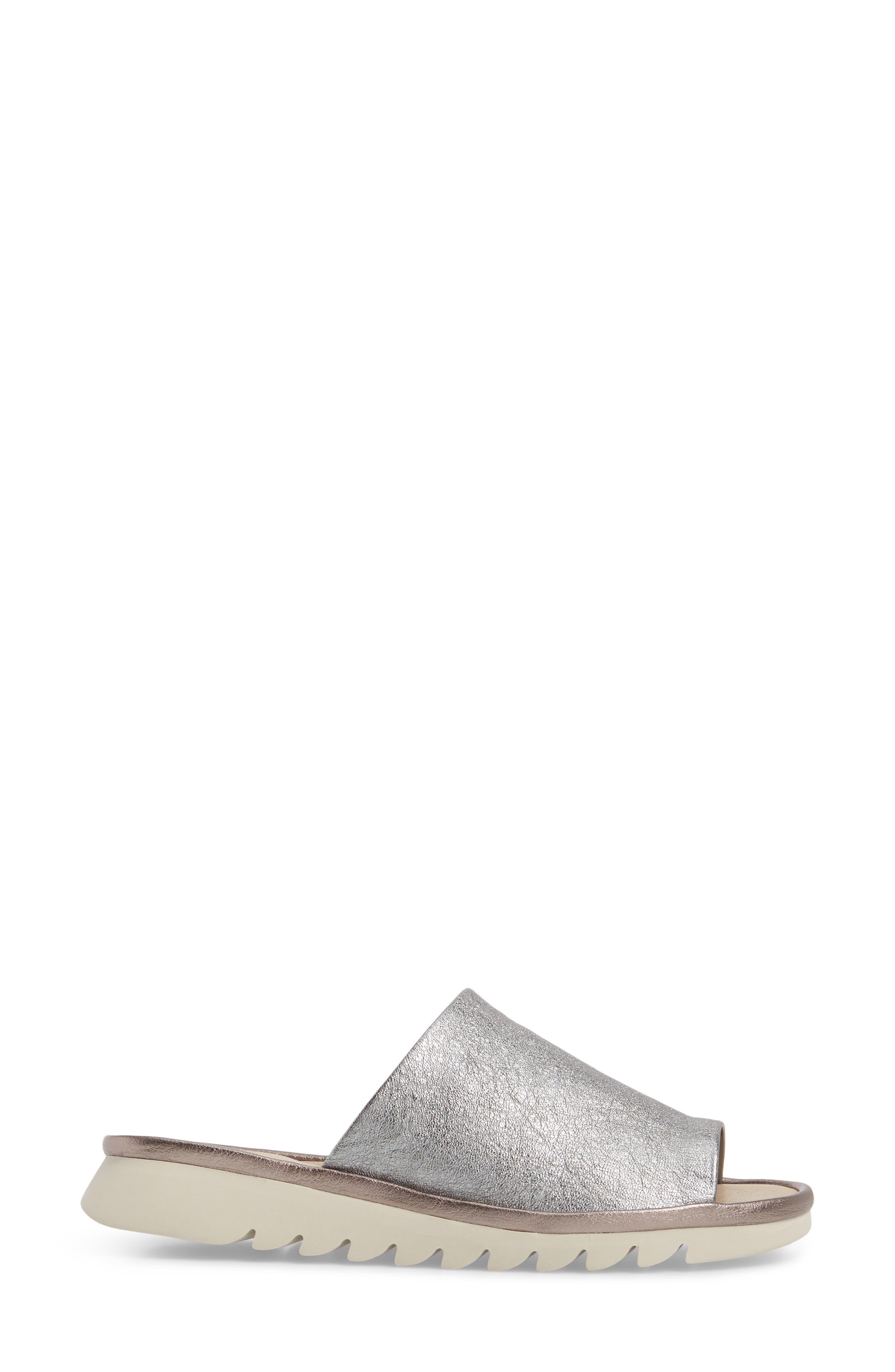 ,                             Shore Thing Slide Sandal,                             Alternate thumbnail 3, color,                             CANNA DI FUCILE LEATHER