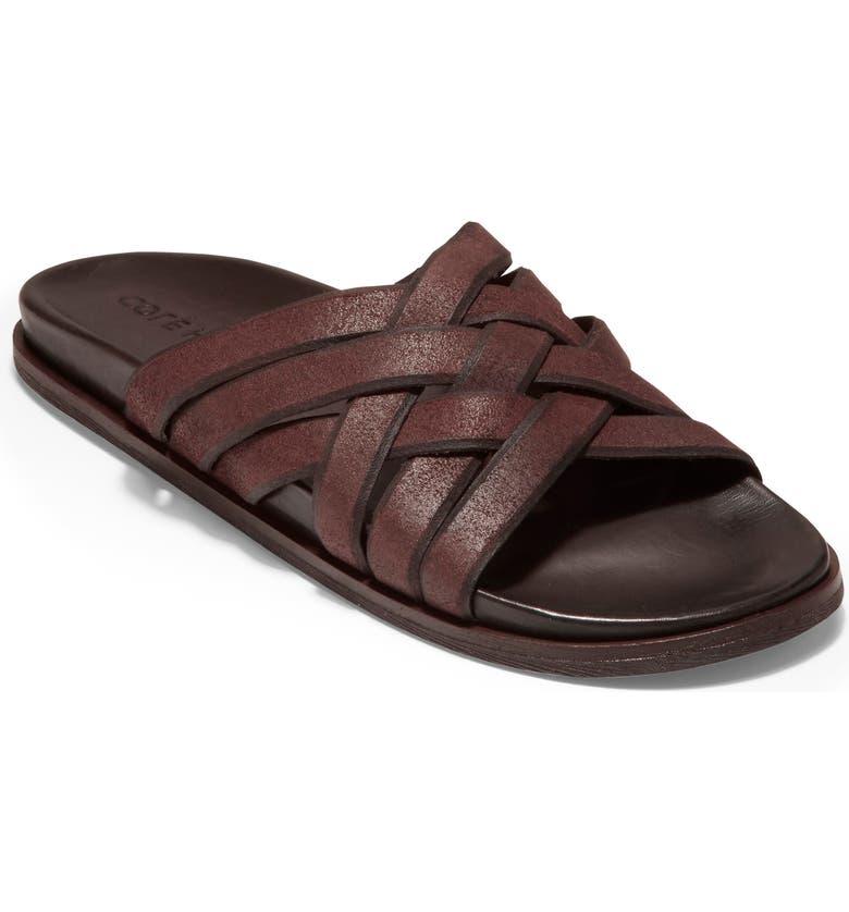 COLE HAAN Feathercraft Slide Sandal, Main, color, BRACKEN / DARK ROAST