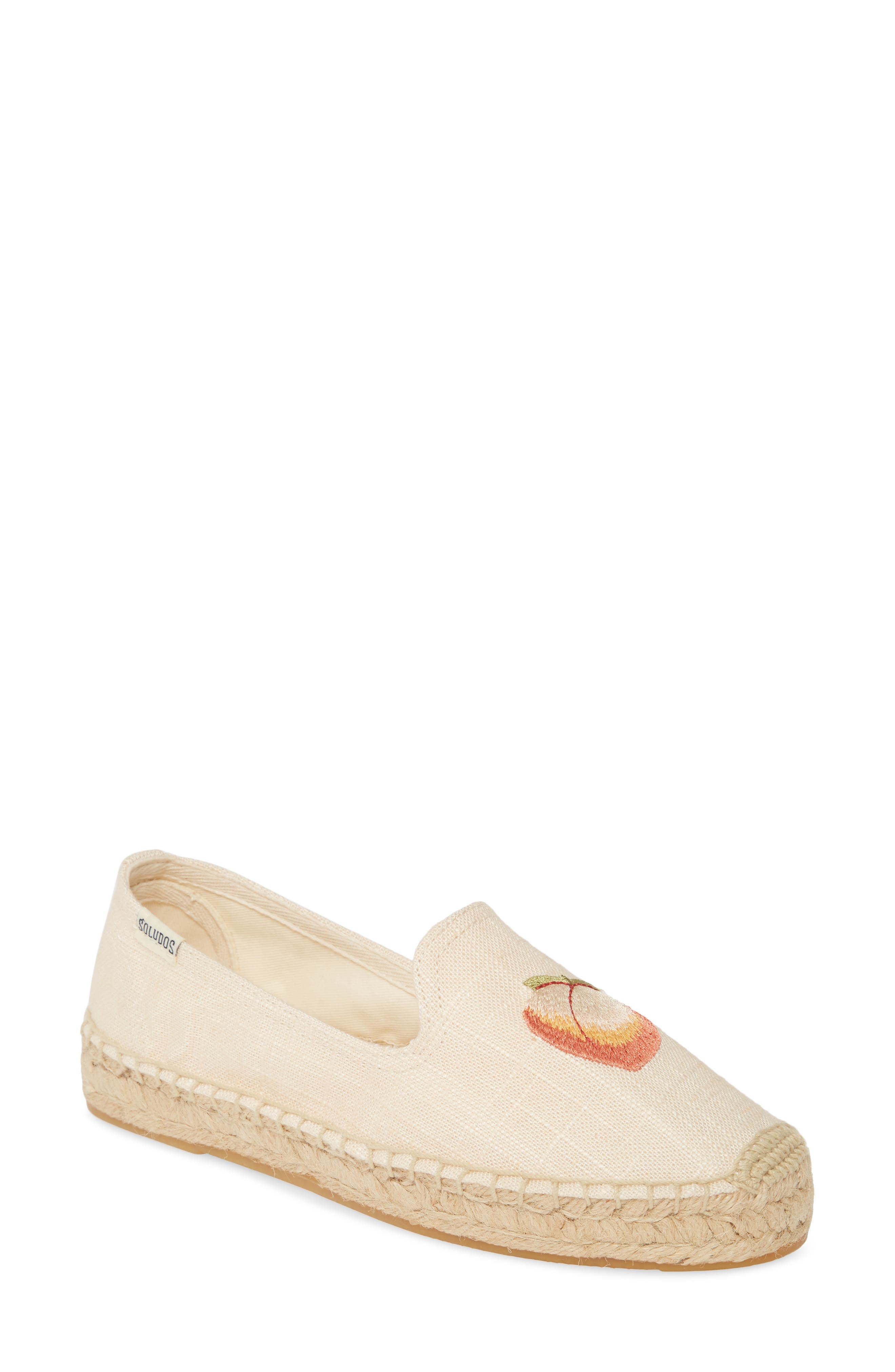 Soludos Peach Bum Embroidered Espadrille, Pink