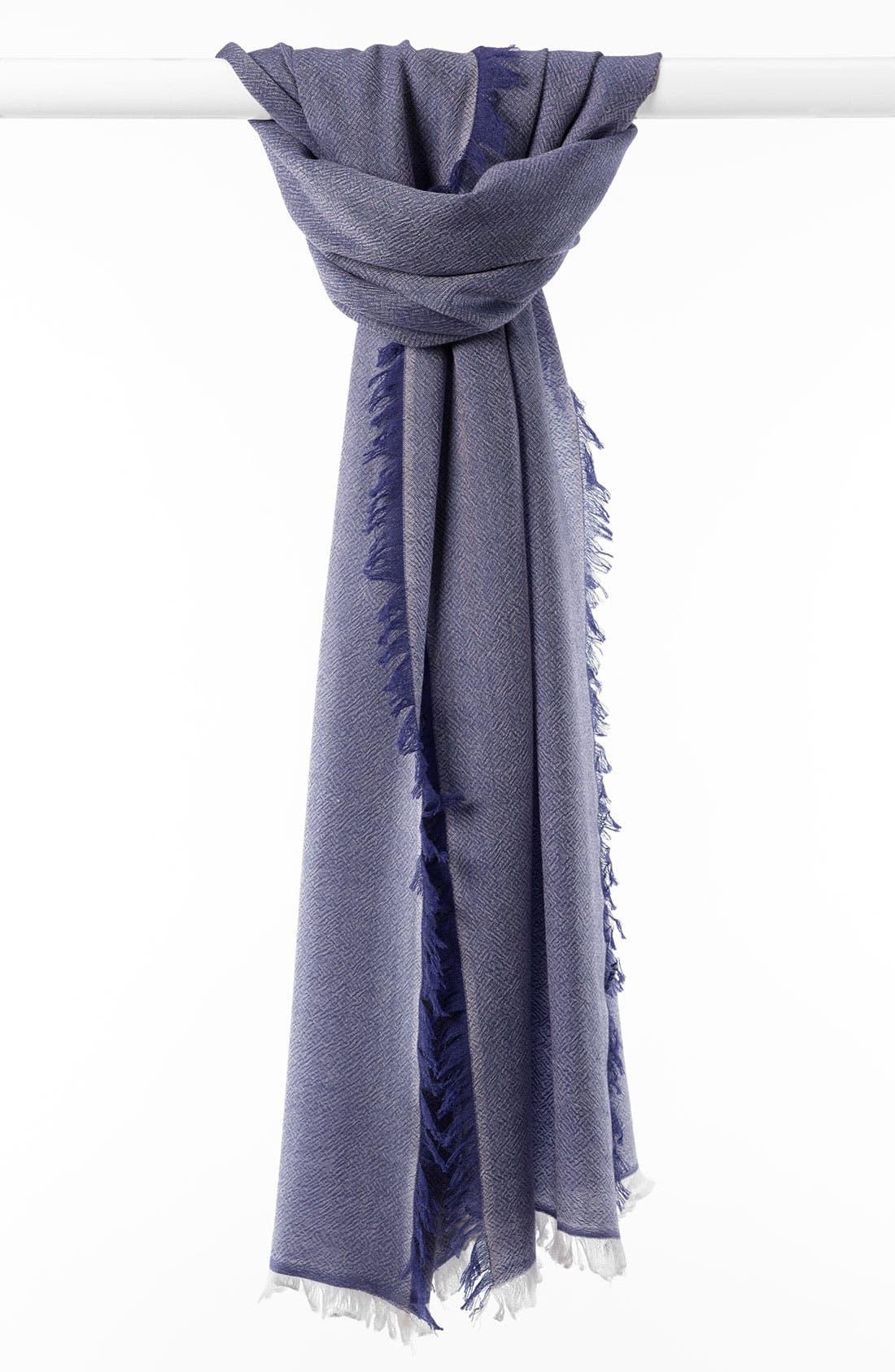 ,                             'Eyelash' Colorblock Cashmere Wrap,                             Main thumbnail 43, color,                             431