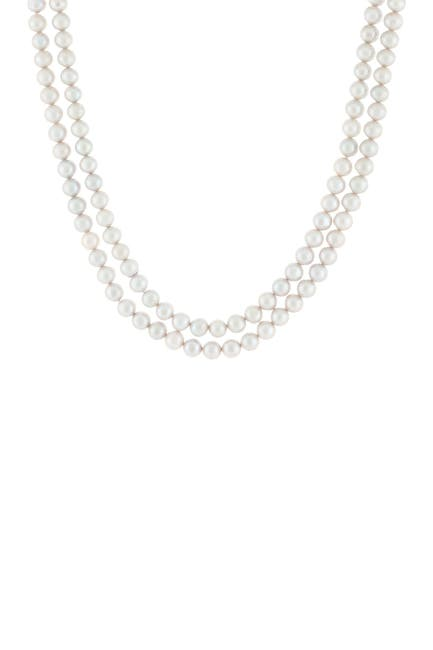 Image of Splendid Pearls Endless 8-8.5mm Grey Dyed Cultured Freshwater Pearl Layering Necklace