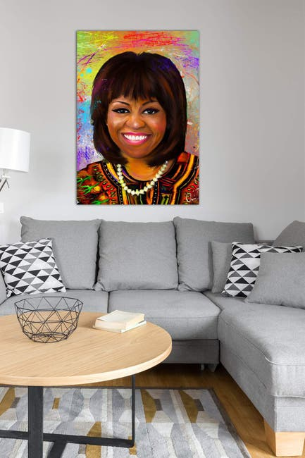 Image of iCanvas Michelle Obama by Crixtover Edwin