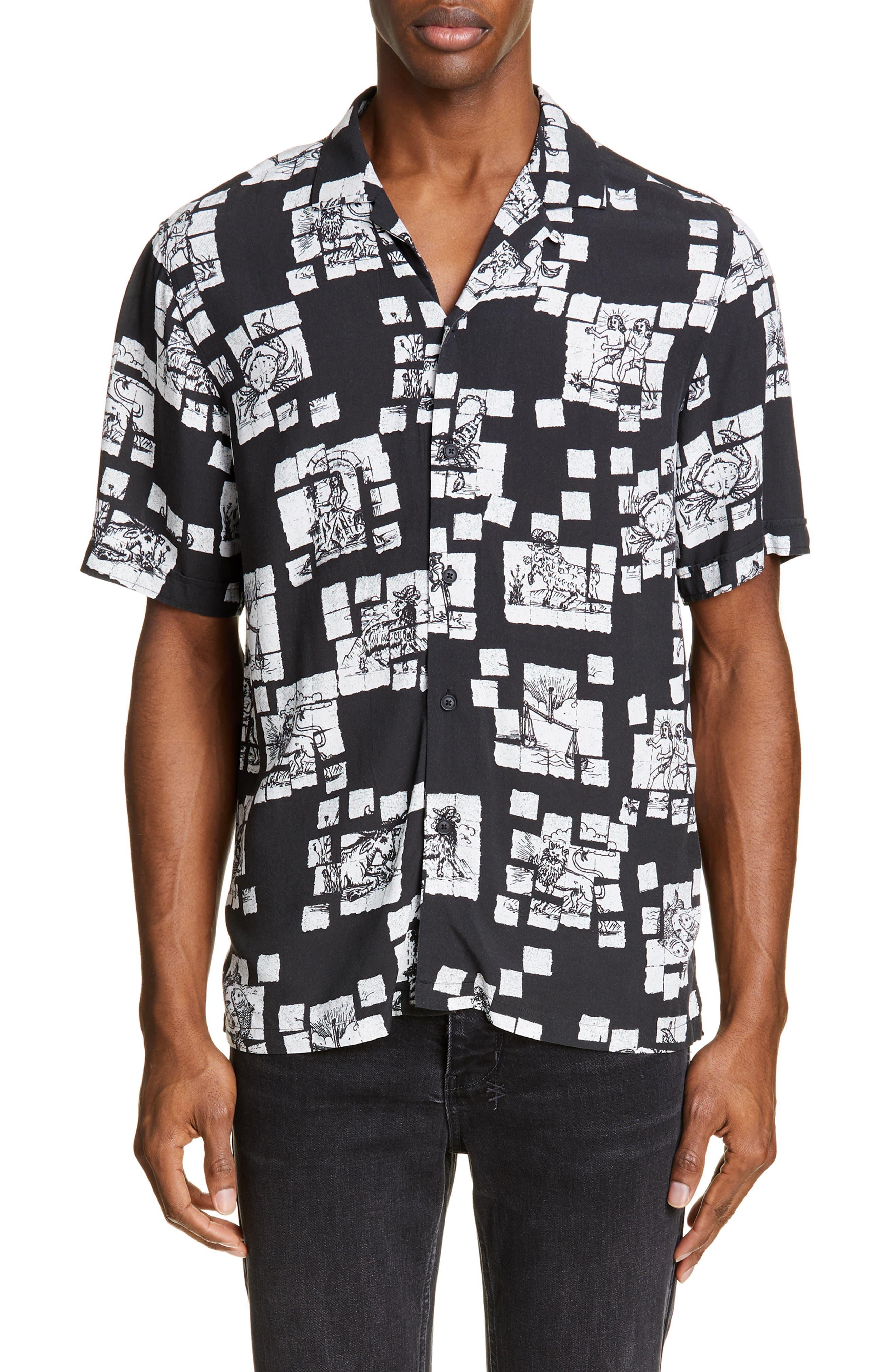 Image of Ksubi Zodiac Acid Resort Camp Shirt