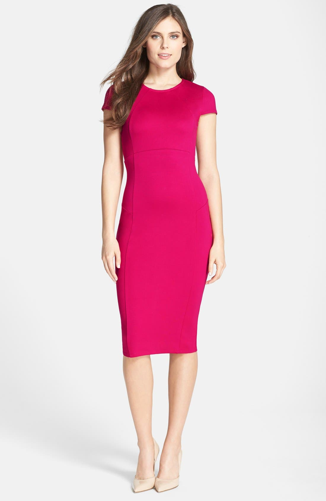 ,                             Ward Seamed Pencil Dress,                             Alternate thumbnail 62, color,                             668