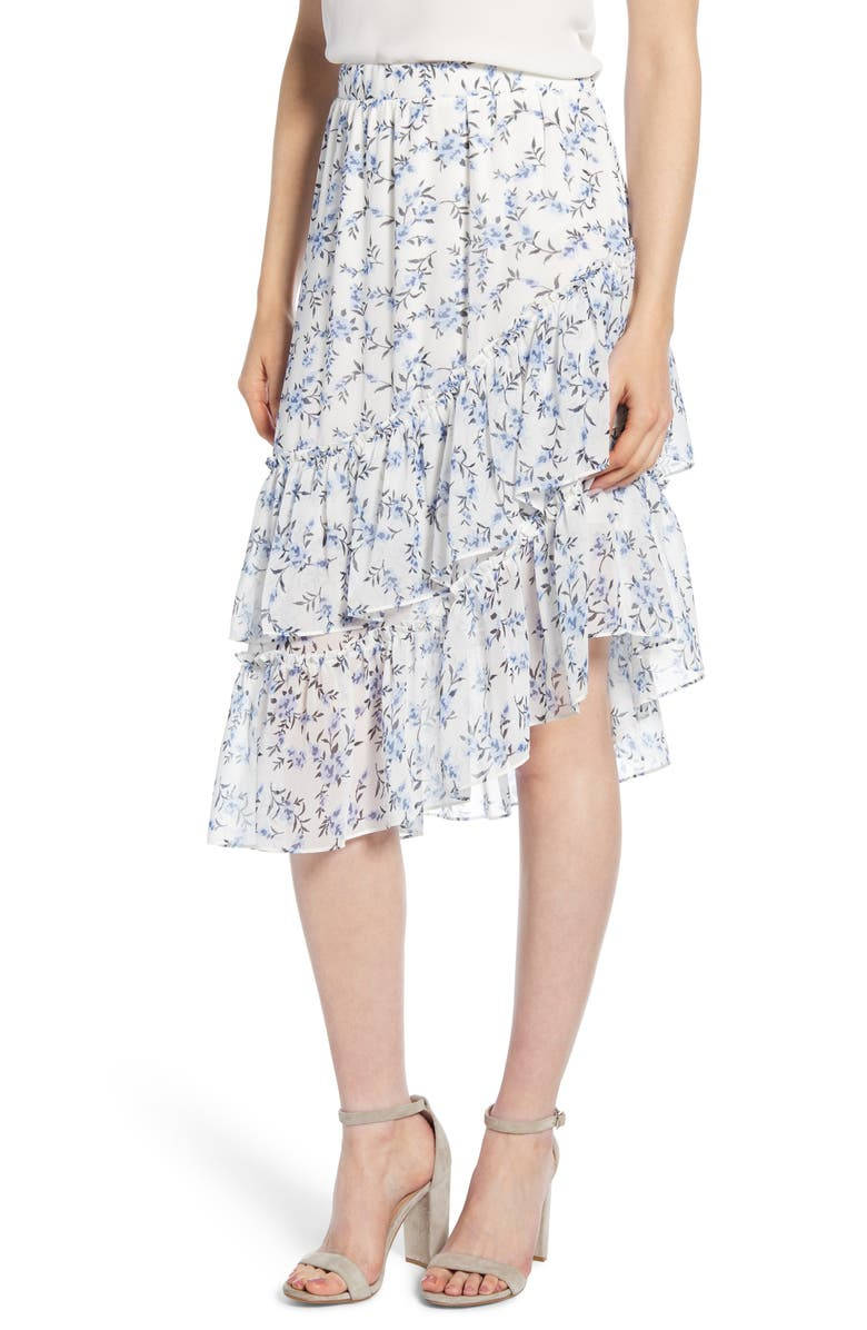 1.STATE Tiered Asymmetrical Skirt, Main, color, 100