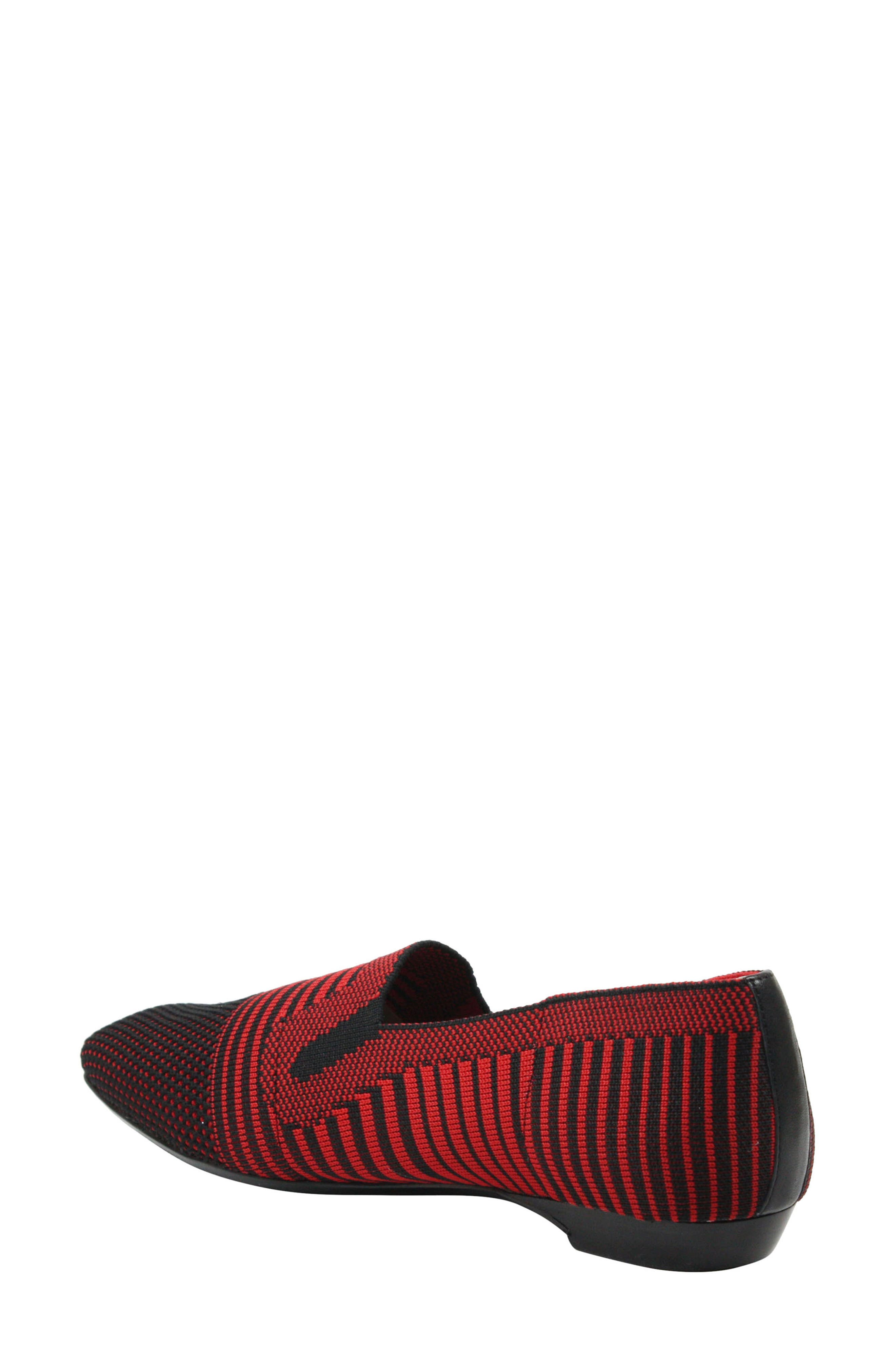,                             Martyne Smoking Slipper,                             Alternate thumbnail 2, color,                             RED/ BLACK