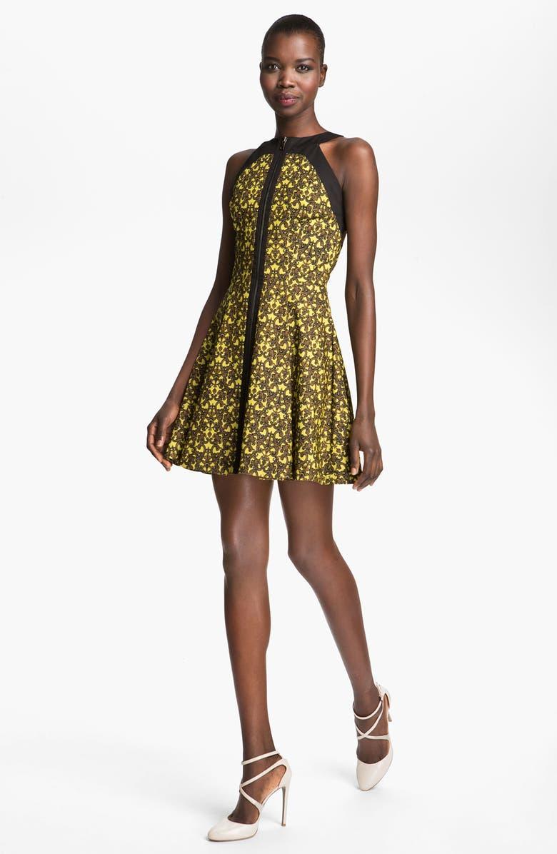 ROBERT RODRIGUEZ Filigree Print Dress, Main, color, 700