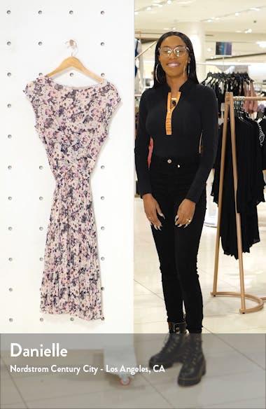 Floral Pleated Midi Dress, sales video thumbnail
