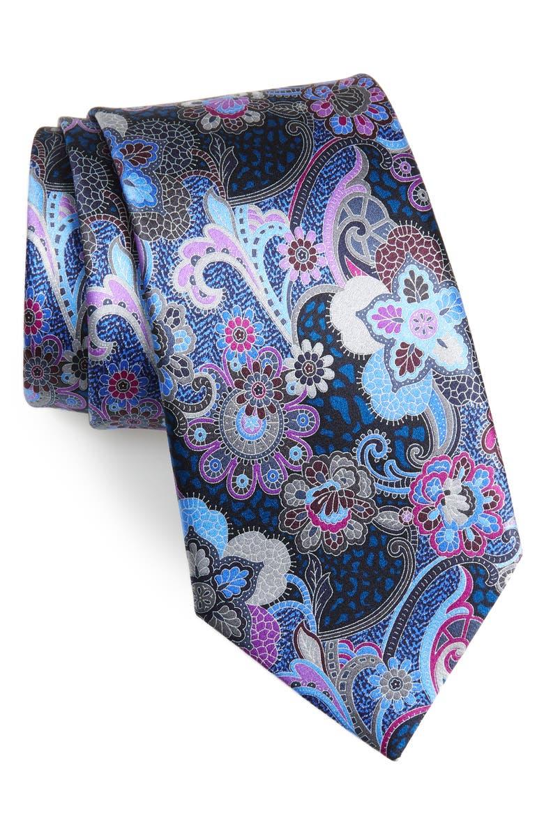 ERMENEGILDO ZEGNA Quindici Paisley Silk Tie, Main, color, 418