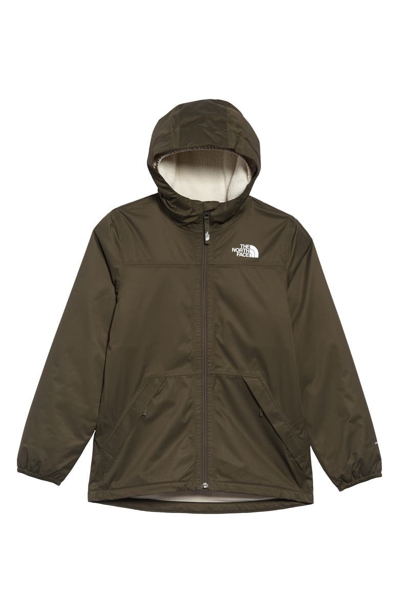 THE NORTH FACE Warm Storm Hooded Waterproof Jacket, Main, color, NEW TAUPE GREEN