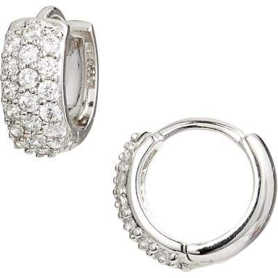 Nordstrom Pave Wide Hinge Huggie Earrings