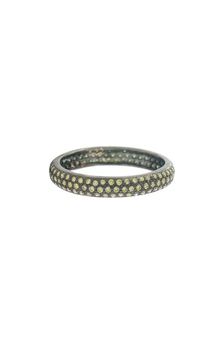 SETHI COUTURE Pavé Diamond Band Ring, Main, color, BLACK RHODIUM/ GREEN DIAMOND