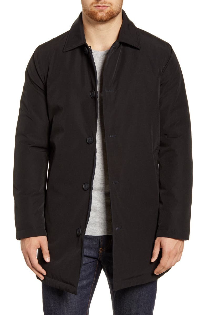 COLE HAAN Reversible Quilted Mac Coat, Main, color, BLACK