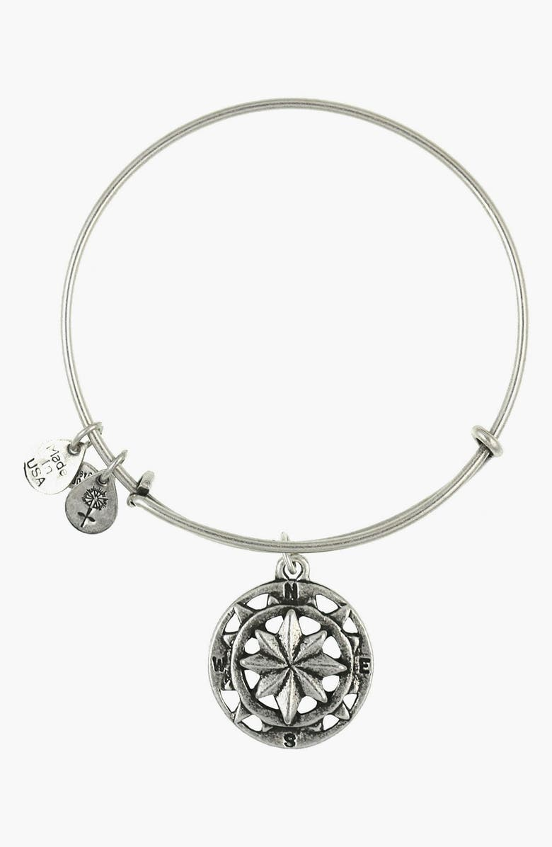 ALEX AND ANI 'Compass' Expandable Wire Bangle, Main, color, 040