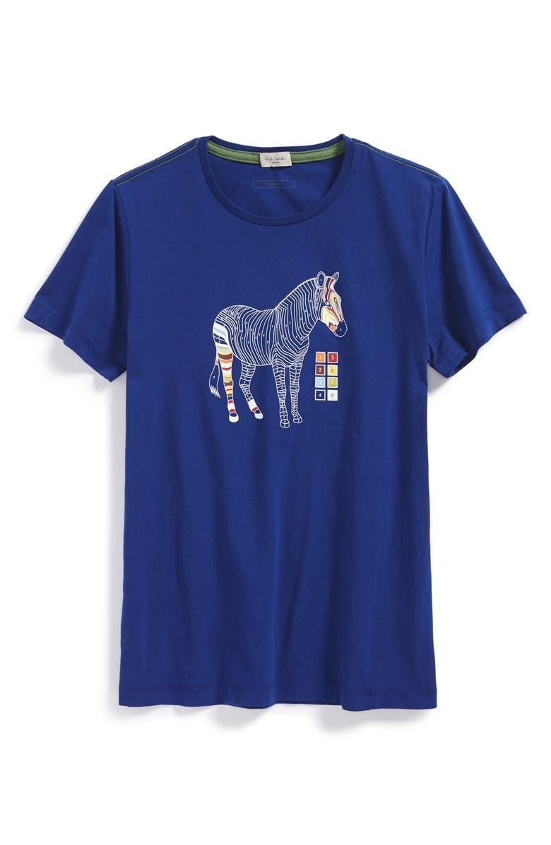 PAUL SMITH JUNIOR Zebra Graphic T-Shirt, Main, color, 431