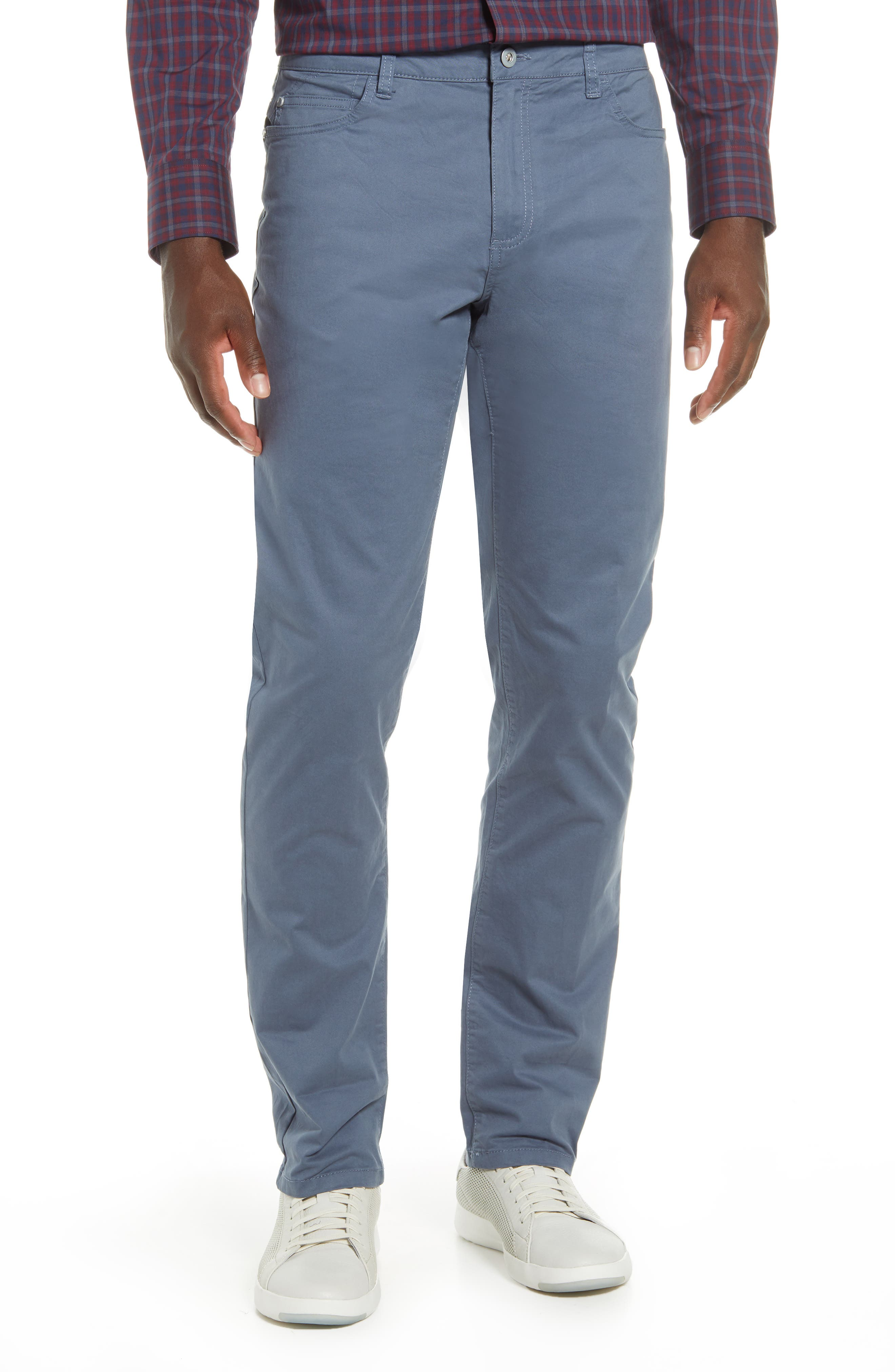 When you\\\'re ready to give your blue jeans a break, reach for these handsome flat-front pants tailored from stretch cotton twill for comfortable, all-day wear. Style Name: Cutter & Buck Voyager Straight Leg Pants. Style Number: 5919825 1. Available in stores.