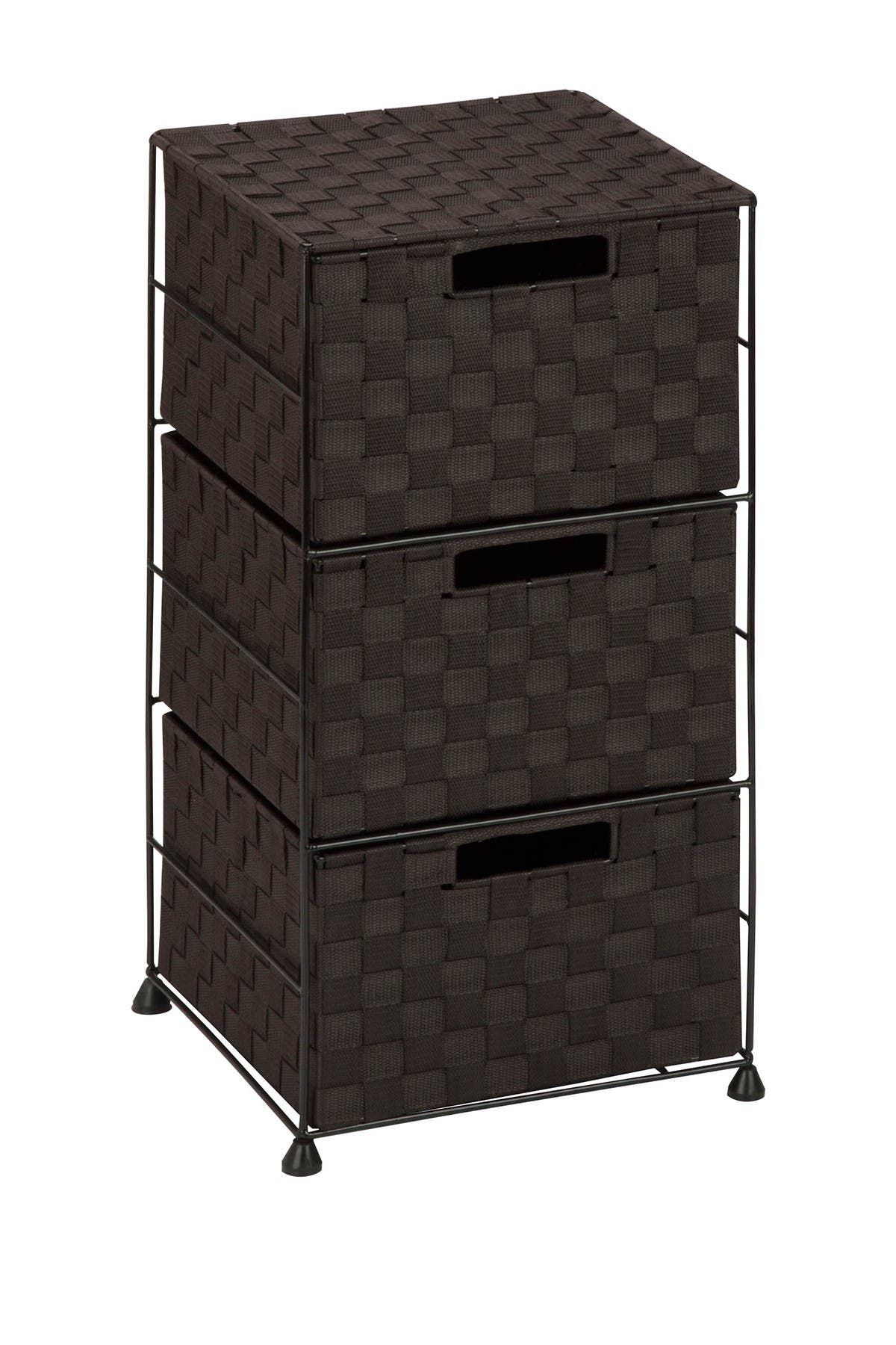 Image of Honey-Can-Do Espresso 3 Drawer Chest