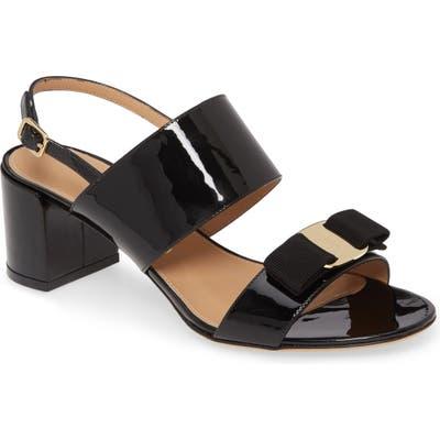 Salvatore Ferragamo Vara Bow Sandal B - Black