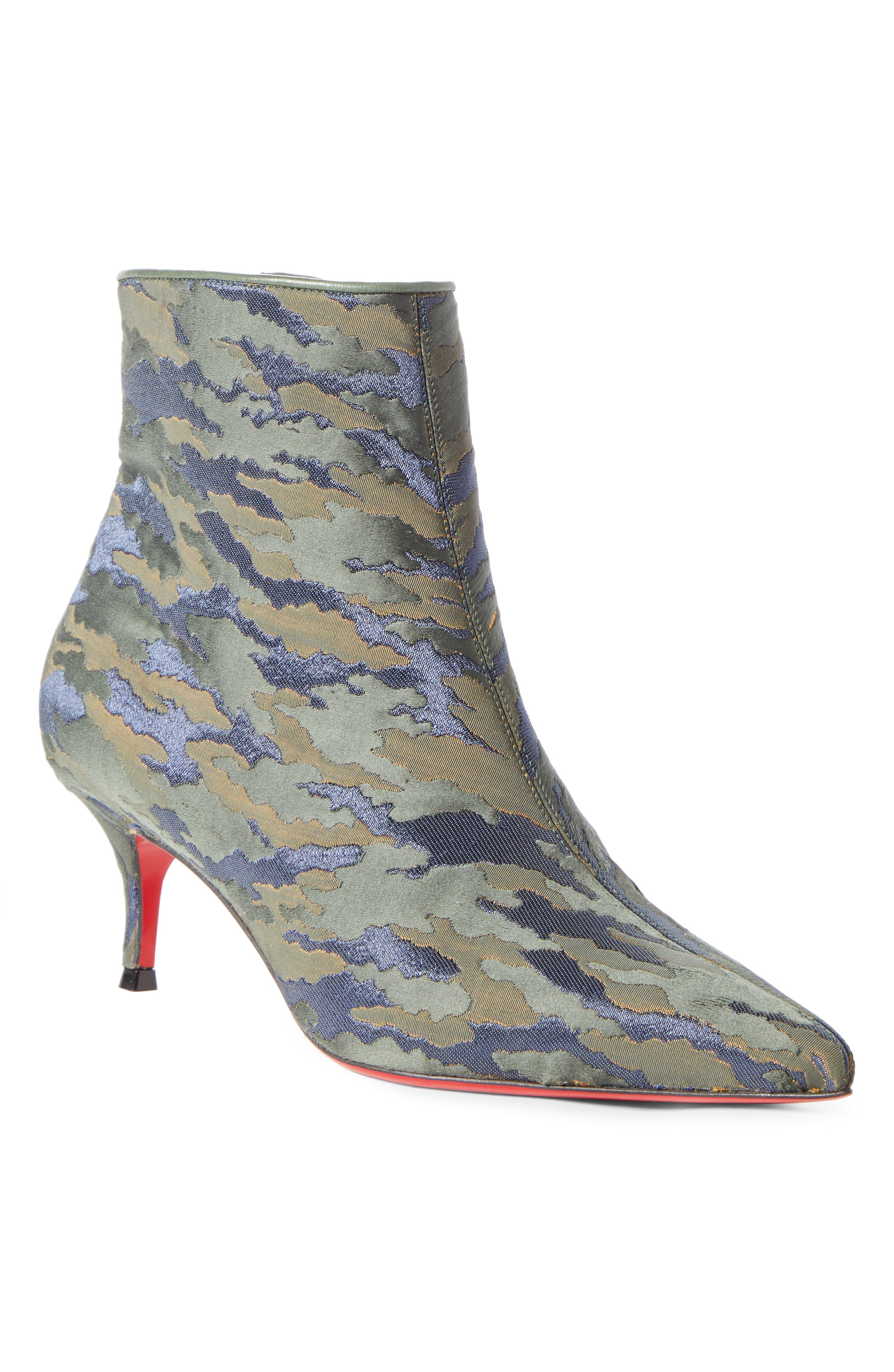 Christian Louboutin So Kate Camo Pointy Toe Bootie, Green
