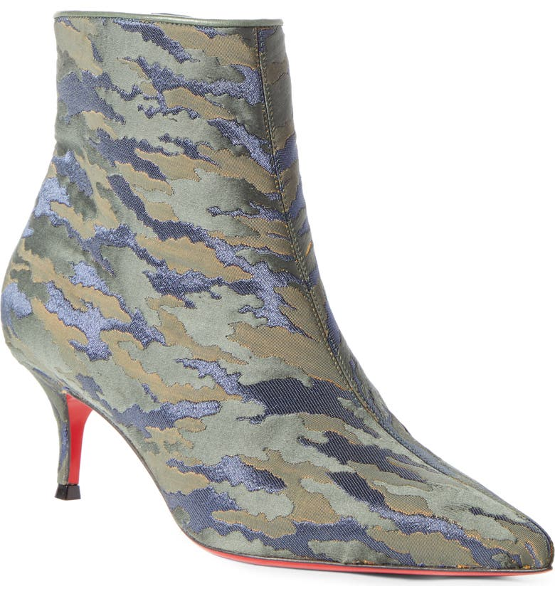 CHRISTIAN LOUBOUTIN So Kate Camo Pointy Toe Bootie, Main, color, VOSGES CAMO