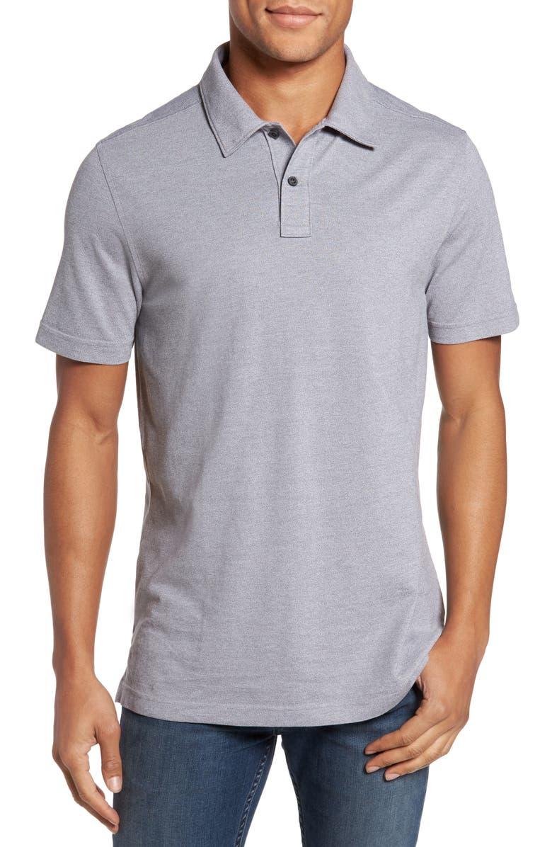 NORDSTROM MEN'S SHOP Regular Fit Polo, Main, color, GREY SHADE MELANGE