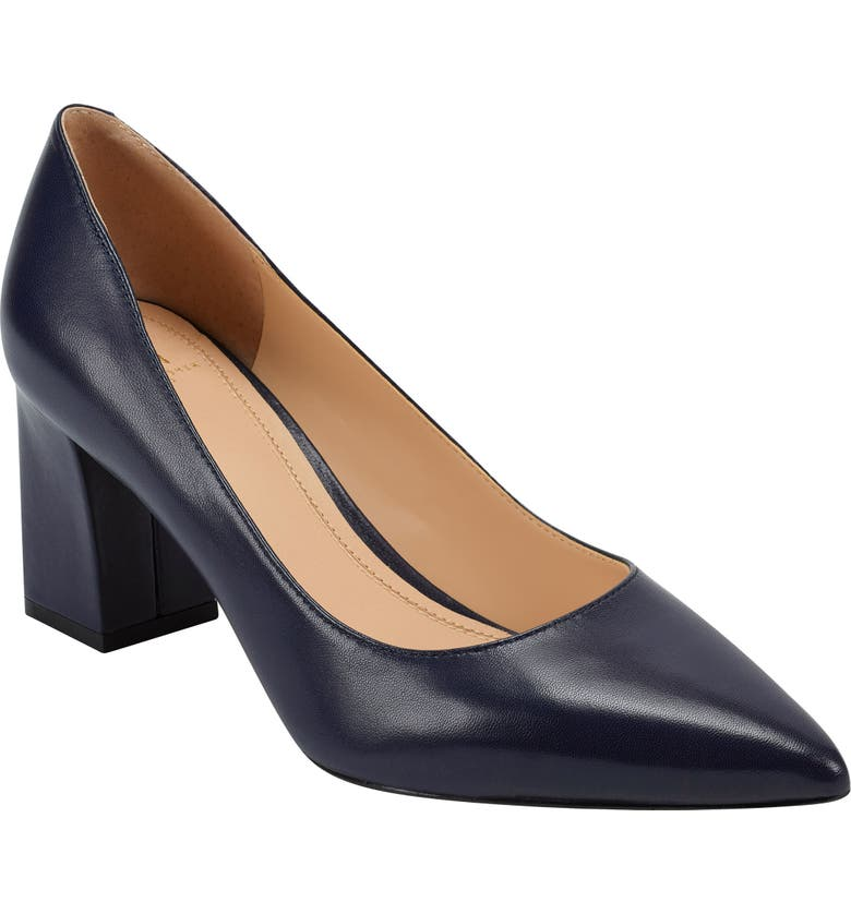 MARC FISHER LTD 'Zala' Pump, Main, color, NAVY LEATHER