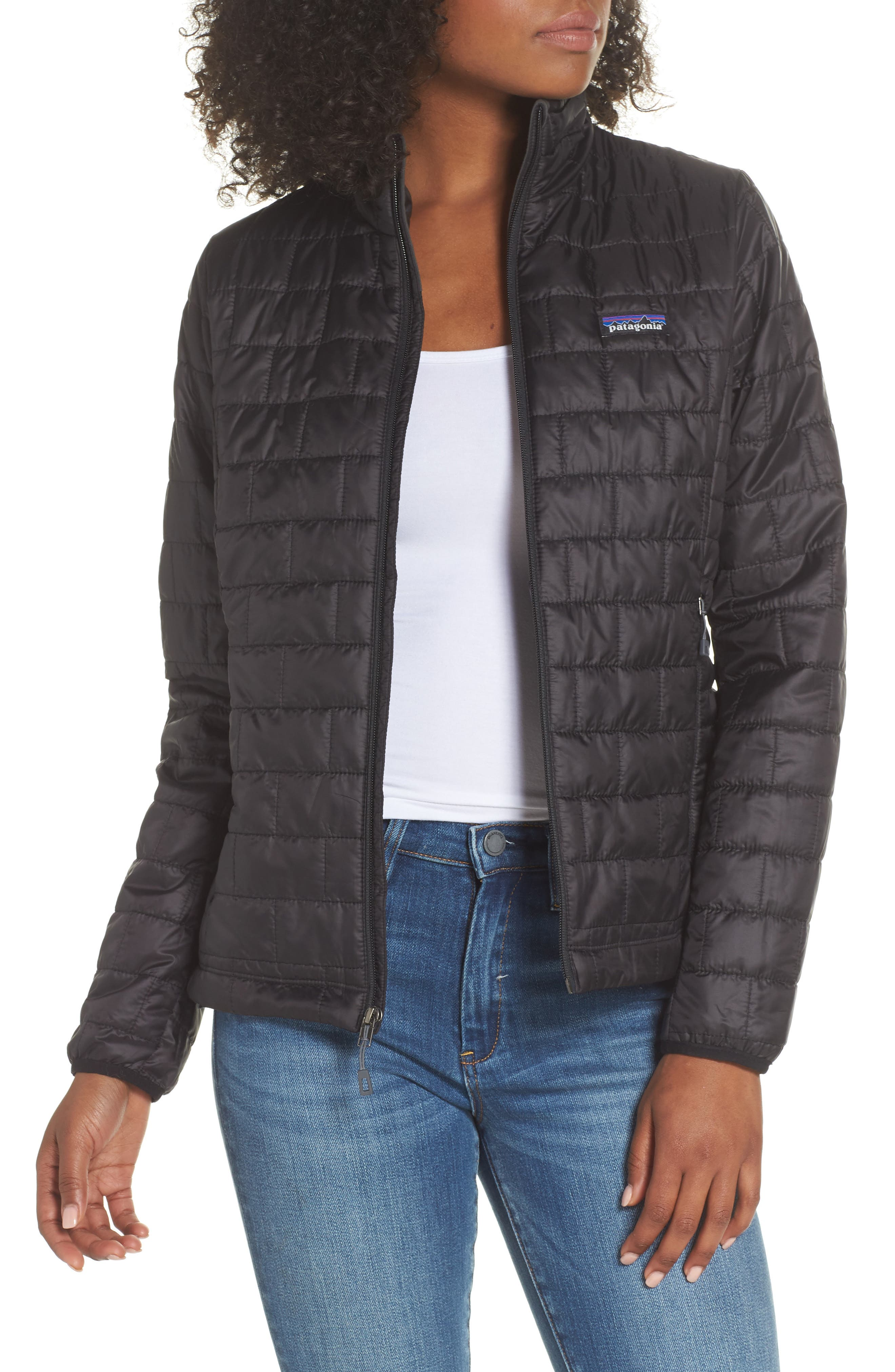 ,                             Nano Puff<sup>®</sup> Water Resistant Jacket,                             Main thumbnail 1, color,                             BLACK